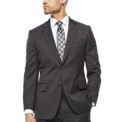 Stafford Travel Charcoal Classic Fit Stretch Suit Jacket