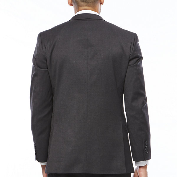 Stafford Travel Charcoal Mens Stretch Classic Fit Suit Jacket