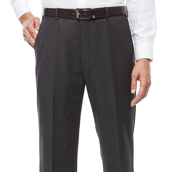 Stafford Travel Charcoal Mens Stretch Classic Fit Suit Pants