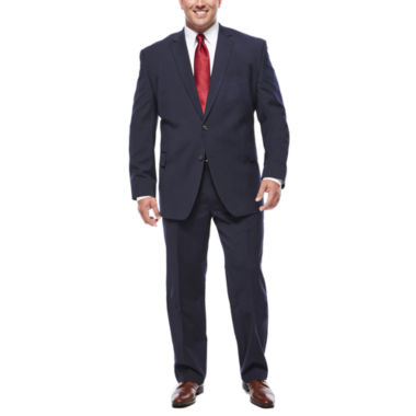 jcpenney.com | Stafford® Travel Stretch Navy Pinstripe Suit Separates- Big & Tall
