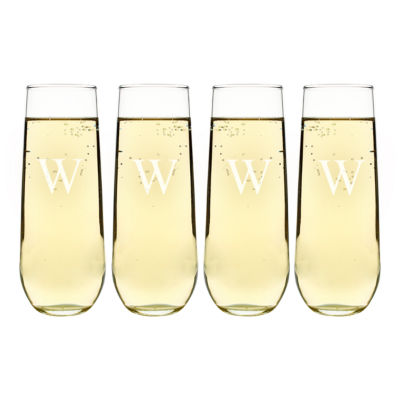 Cathy's Concepts Stemless 4-pc. Champagne Flutes