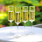 Cathy's Concepts Celebrate! Contemporary 4-pc. Champagne Flutes