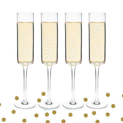 Cathy's Concepts Cheers! Contemporary 4-pc. Champagne Flutes