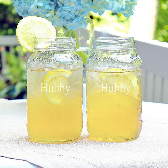 Cathy's Concepts Hubby & Hubby 2-pc. Mason Jar