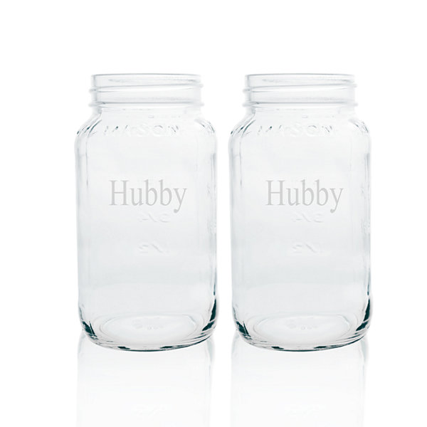 Cathy's Concepts Hubby & Hubby 2-pc. Mason Jar