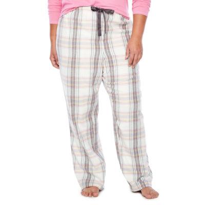 Sleep Chic Flannel Pajama Pants-Plus