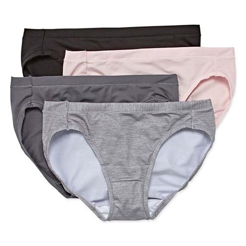 Hanes® Ultimate Cool Comfort Microfiber Bikini Panties - 4pk