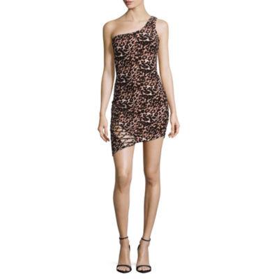 Trixxi Sleeveless Leopard Bodycon Dress-Juniors