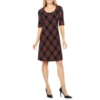 Ronni Nicole Elbow Sleeve Shift Dress