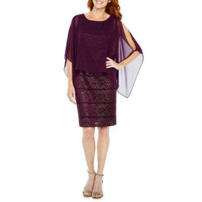 Ronni Nicole Sleeveless Cape Sheath Dress