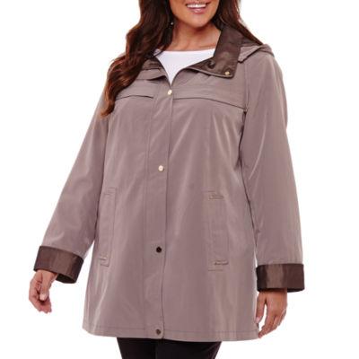 St. John's Bay Water Resistant Raincoat - Plus