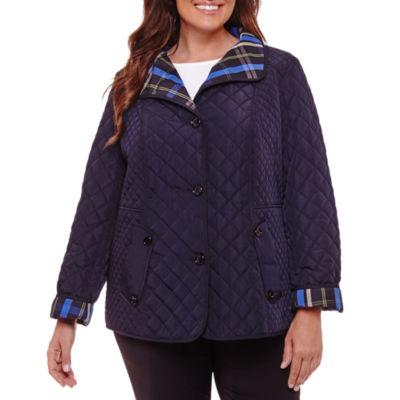 Liz Claiborne Quilted Jacket-Plus
