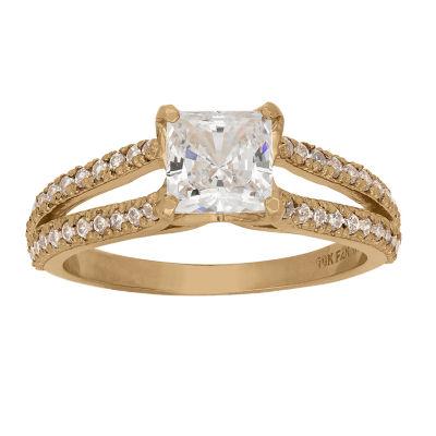 Diamonart Womens 1 5/8 CT. T.W. Lab Created White Cubic Zirconia 10K Gold Engagement Ring