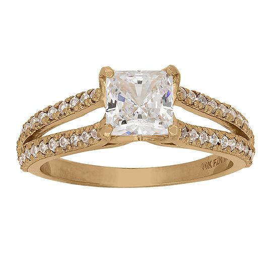 DiamonArt® Womens 1 5/8 CT. T.W. Lab Created White Cubic Zirconia 10K Gold Engagement Ring