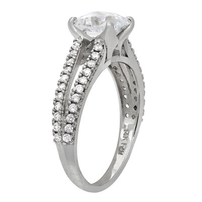 Diamonart Womens 1 5/8 CT. T.W. Lab Created White Cubic Zirconia 10K Gold Engagement Ring
