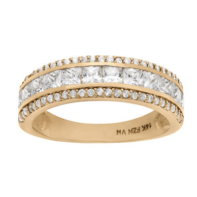 Diamonart Womens 2 1/2 CT. T.W. White Cubic Zirconia 10K Gold Band