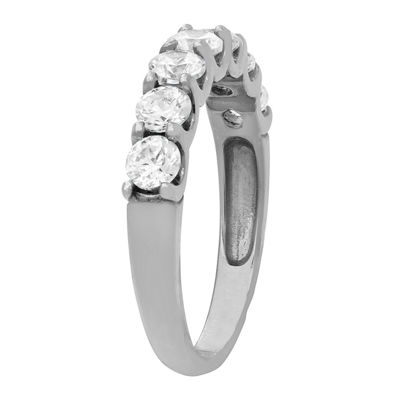 Diamonart Womens 4mm 1 1/2 CT. T.W. Lab Created White Cubic Zirconia 10K Gold Band