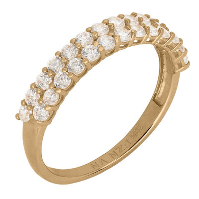 Diamonart Womens 4mm 2 1/4 CT. T.W. Lab Created White Cubic Zirconia 10K Gold Band