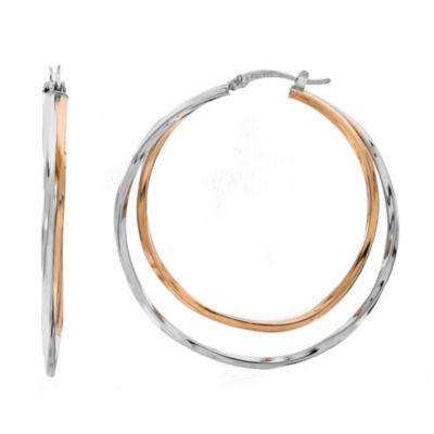 Gold Over Silver Hoop Earrings