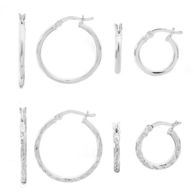 4 Pair Sterling Silver Earring Sets