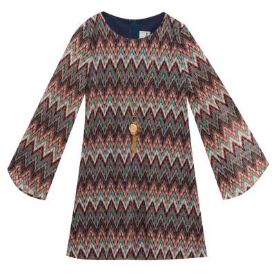 Rare Editions Long Sleeve Shift Dress - Preschool Girls
