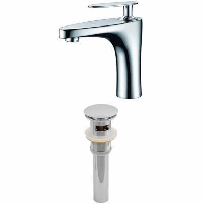 American Imaginations Single Hole CUPC Approved Brass Faucet Set In Chrome Color With Drain