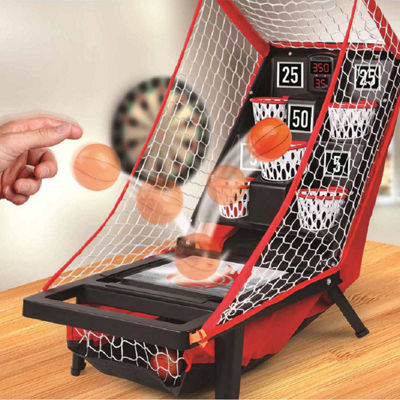 Sharper Image Game Tabletop Basketball Launch Bucket