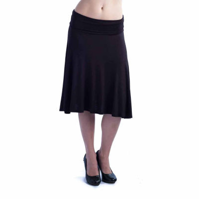 24/7 Comfort Apparel Foldover A-Line Skirt