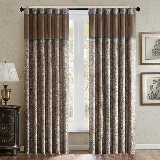 Madison Park Whitman 2-Pack Paisley Jacquard Curtain Panels