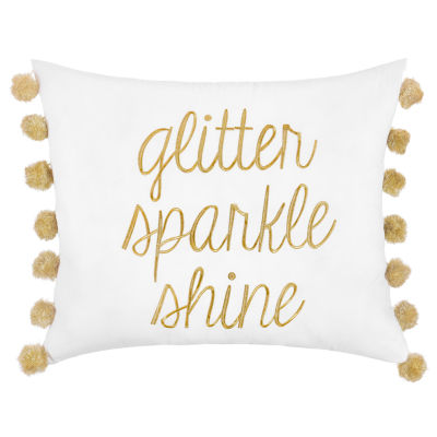 Frank And Lulu Glitter Sparkle Shine Pillow Rectangular Throw Pillow