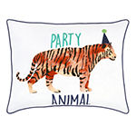 Frank And Lulu Party Animal Pillow Rectangular Throw Pillow
