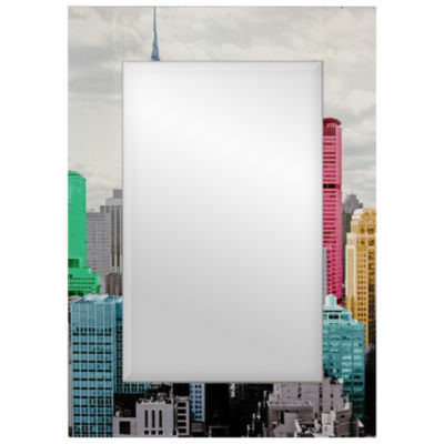 Oriental Furniture New York City Skyline Wall Mirror