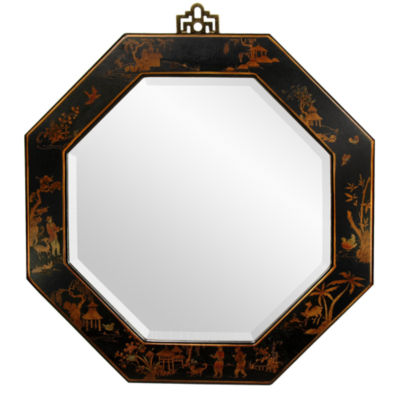 Oriental Furniture I-Ching Octagonal Wall Mirror