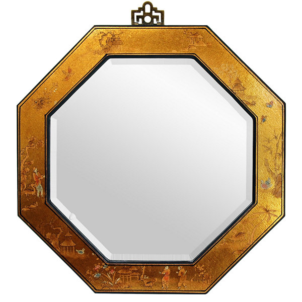 Oriental Furniture Ming-Era Octagonal Wall Mirror