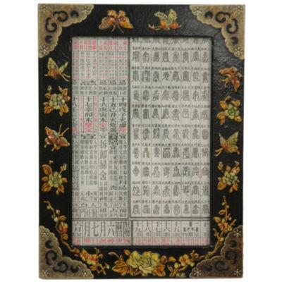 "Oriental Furniture Black Lacquer 5""x7"" Photo Frame"