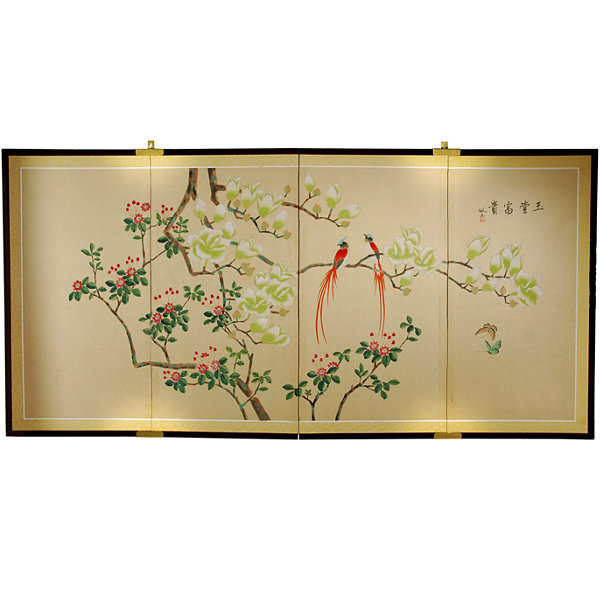 Oriental Furniture Silk Wall Screen Brackets