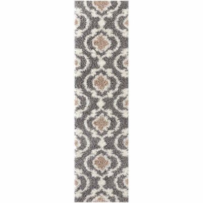 World Rug Gallery Cozy Moroccan Trellis Rectangular Runner