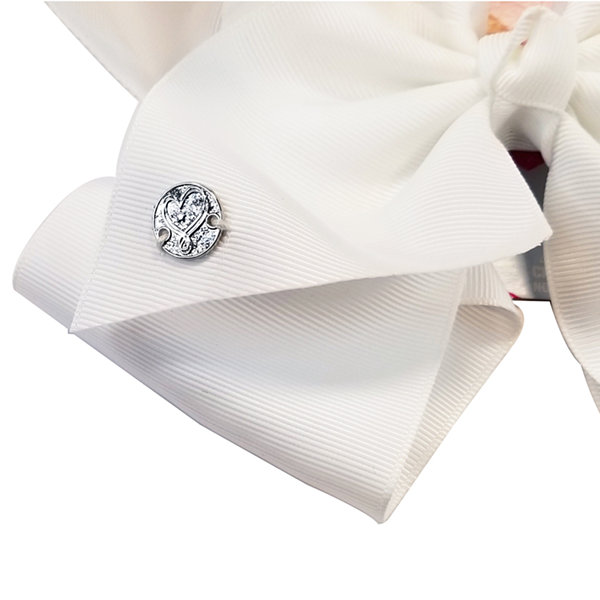 JoJo Siwa Large Signature Hair Bow Solid White Basic