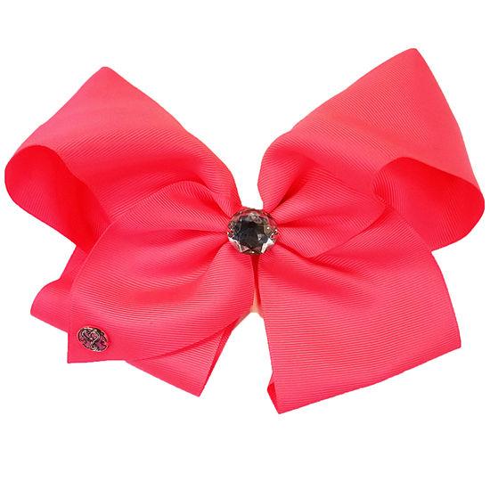 JoJo Siwa Signature Hair Bow Neon Pink w/Large Rhinestone