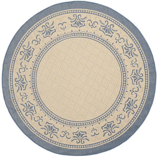 Safavieh Courtyard Collection Alden Oriental Indoor/Outdoor Round Area Rug