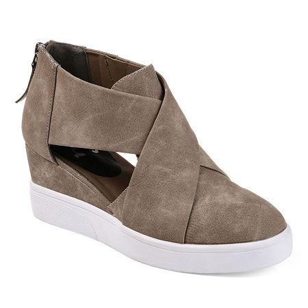 Journee Collection Womens Senna Sneaker, 12 Medium, Beige