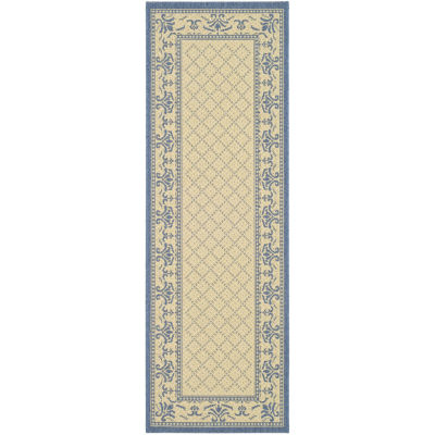 Safavieh Courtyard Collection Alden Oriental Indoor/Outdoor Runner Rug