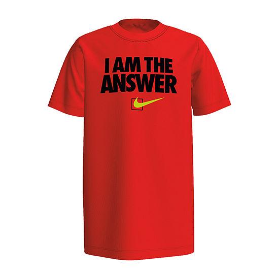 Nike Boys Crew Neck Short Sleeve Graphic T Shirt Big Kid
