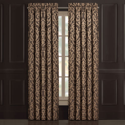 Queen Street Monroe Light-Filtering Rod-Pocket Set of 2 Curtain Panel