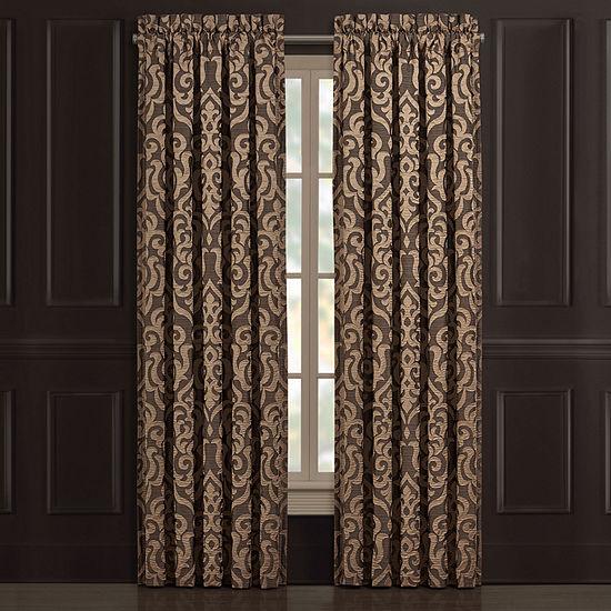 Queen Street Monroe Light-Filtering Rod-Pocket Set of 2 Curtain Panel