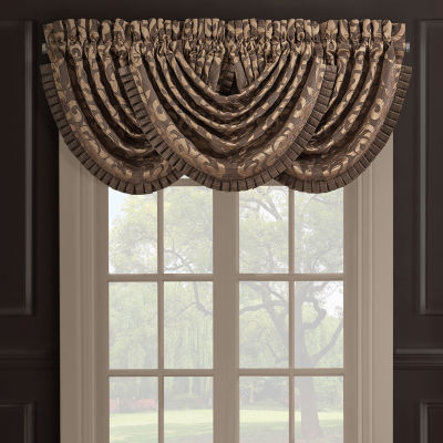 Queen Street Monroe Rod-Pocket Waterfall Valance