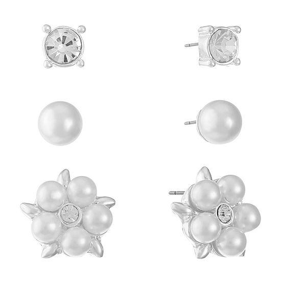 Gloria Vanderbilt 3 Pair Earring Set