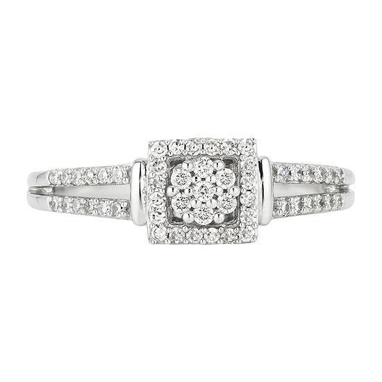 a1eda000c4952 Enchanted Disney Fine Jewelry 1/4 C.T. T.W. Genuine Diamond 10K White &  Rose Gold