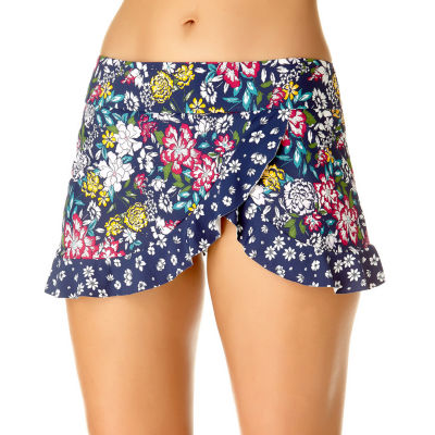 Liz Claiborne Floral Swim Skirt Swimsuit Bottom
