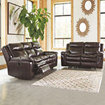 Signature Design by Ashley Lockesburg Pad-Arm Reclining Loveseat